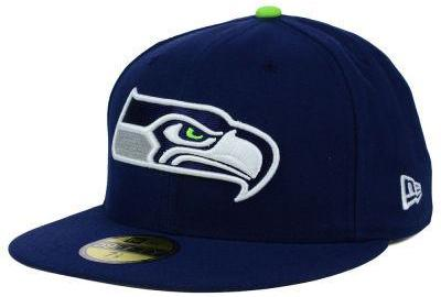 sale retailer 89ba4 45a7b New Era Mens Seahawks On Field 5950 Game Fitted Hat