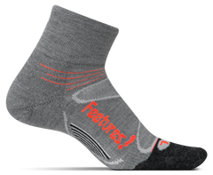 Feetures Elite Merino Quarter Socks EM200603 Gray