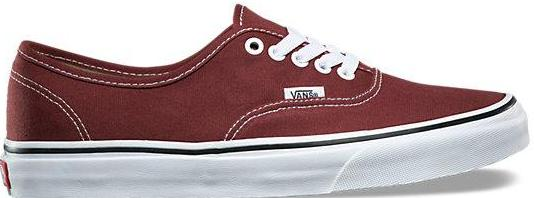 vans authentic madder