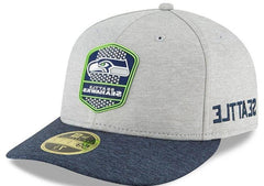 New Era 5950 Onfield 18 Seattle Seahawks Cap Heathered Grey