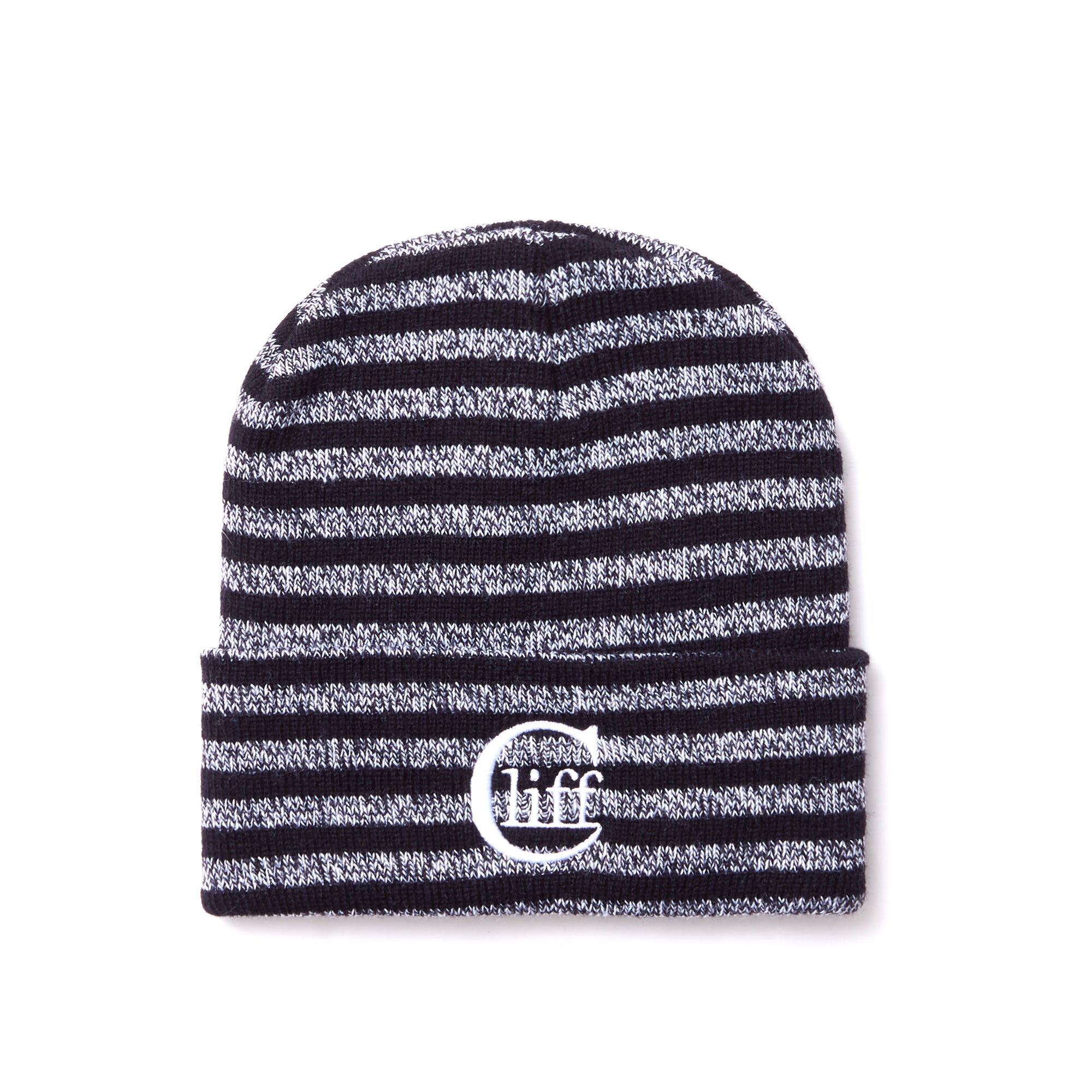 'Main Logo' Striped Beanie - Cliff Creative Projects
