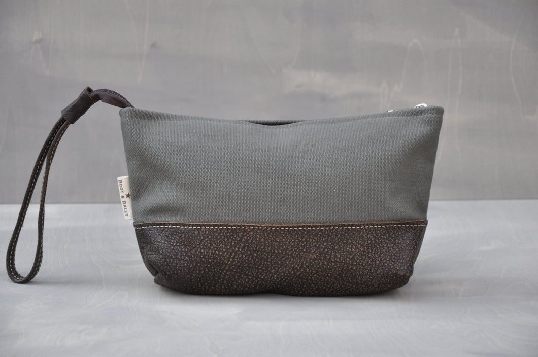 Utility Pouch - Wrist Strap with Base (Olive / Buffed Brown)
