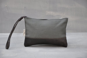 Utility Pouch - Wrist Strap (Olive / Buffed Brown)