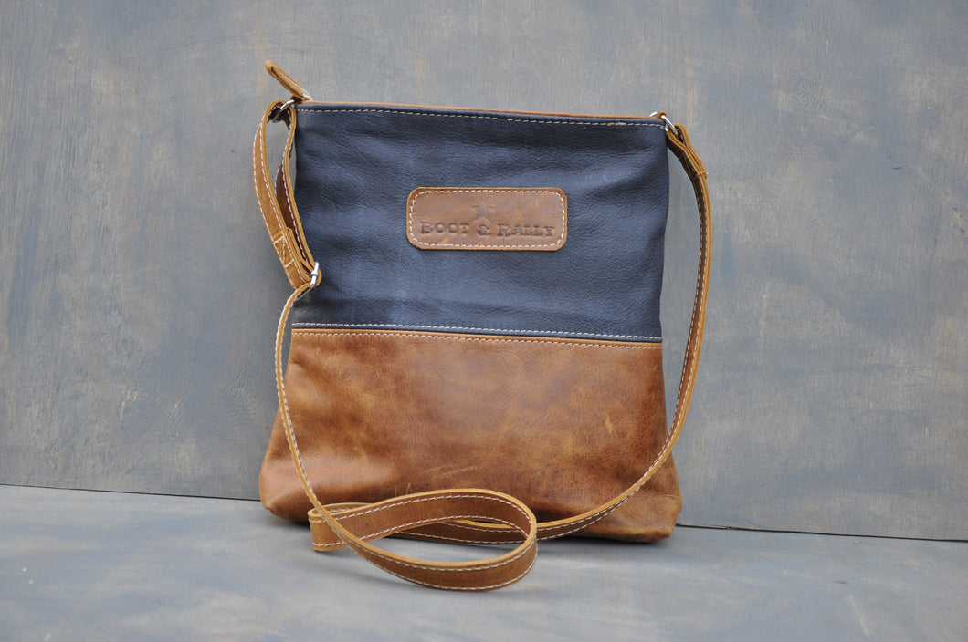 Hipster Mini Two tone - (Diesel toffee & Dark blue)