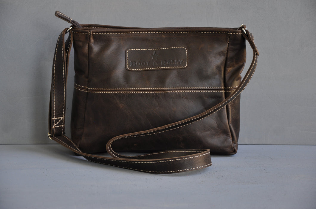Jana Bag / long sling - (choc brown)