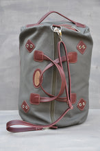 Load image into Gallery viewer, Travel Duffle - (Maroon / Green)