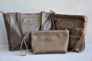Combo Deal - Lize-Marie , Mini Hipster, Cosmetic Bag - (choc brown)