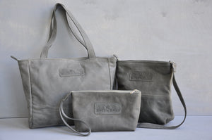 Combo Deal - Lize-Marie , Mini Hipster, Cosmetic Bag - (storm grey)