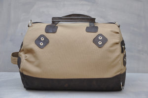 Travel Duffle - (Beige / Brown)