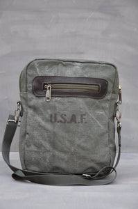 Satchel - Reclaimed Ripstop Canvas (Green / Buffed Brown)