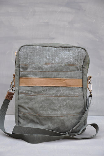 Satchel - Reclaimed Ripstop Canvas (Green / Tan)