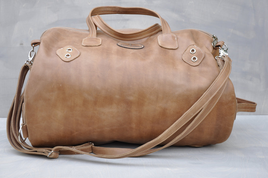 Travel Vintage Duffle - (Tan)