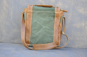 De La Rey satchel (Reclaimed Canvas & Leather)