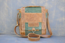 Load image into Gallery viewer, De La Rey satchel (Reclaimed Canvas & Leather)