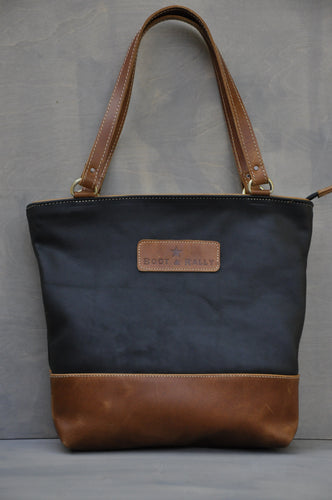 Megan bag Two tone leather (Black & Diesel Toffee)