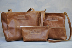 Combo Deal - Lize-Marie , Mini Hipster, Cosmetic Bag - Diesel toffee