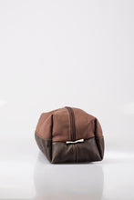 Load image into Gallery viewer, Toiletry bag - Canvas & Leather (Brown / Buffed Brown)