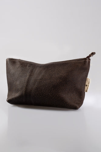 Utility Pouch - With Base /  Full Leather (Buffed Brown)