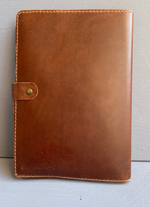 Leather Book cover A5( Tabacco ) Engraved Afrikaans