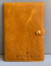 Load image into Gallery viewer, Leather Book Cover Logo Only A5 ( Diesel Toffee)