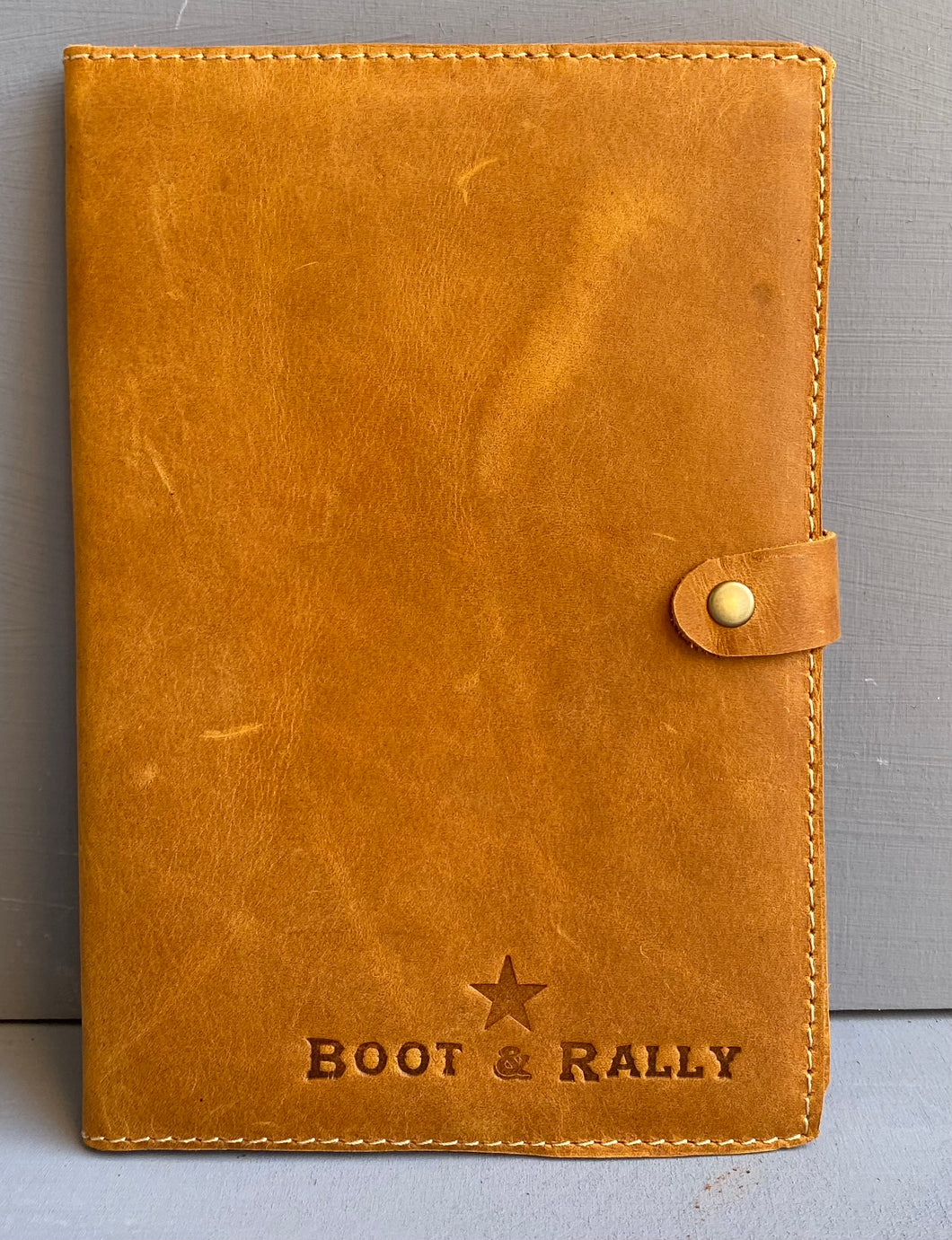 Leather Book Cover Logo Only A5 ( Diesel Toffee)