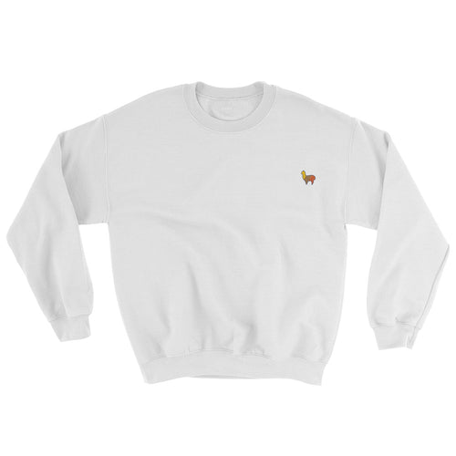 Alpaca Embroidered Sweatshirt