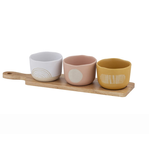 Mojave Serving Bowl and Paddle Set