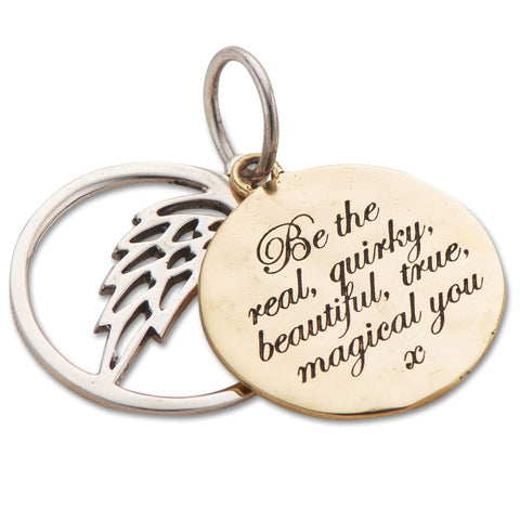 Be The Real You 2 Piece Charm