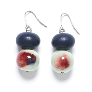 Rare Rabbit Shibori Double Bead Earring