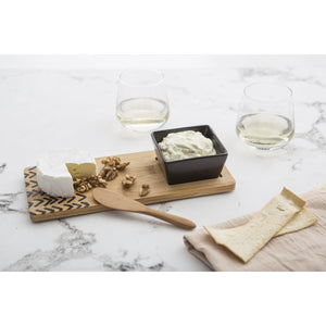 Bamboo 3pc Serving Set w Square Bowl