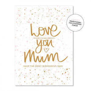 Just Smitten Love You Mum Foil Card