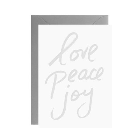 Galina Dixon Love Peace Joy Card