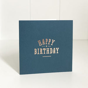 Just Smitten Navy Happy Birthday Mini Card
