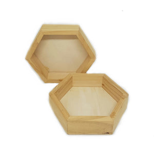 Wooden Hexagon Display Tray