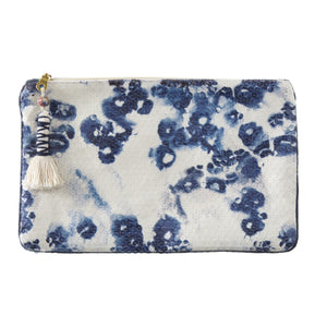 Adorn China Blue Print Clutch