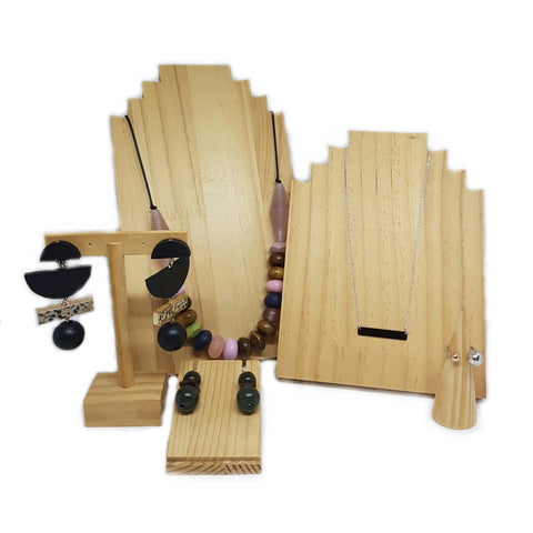 Wooden Jewellery Display Set