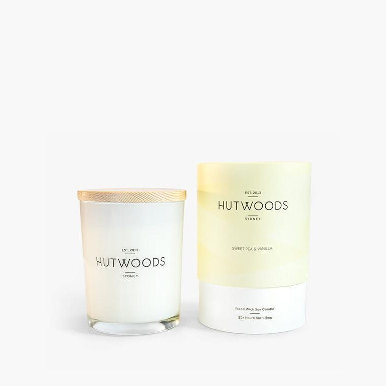 Hutwoods Small 30 Hour Woodwick Candle