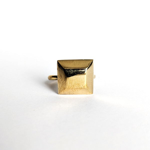 Grace & Able Cube Brass Ring