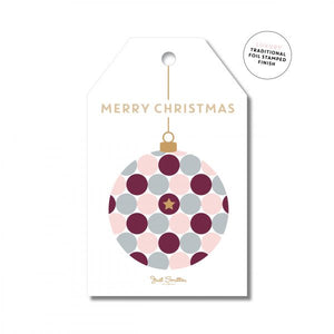 Just Smitten Festive Bauble Gift Tag 8pk
