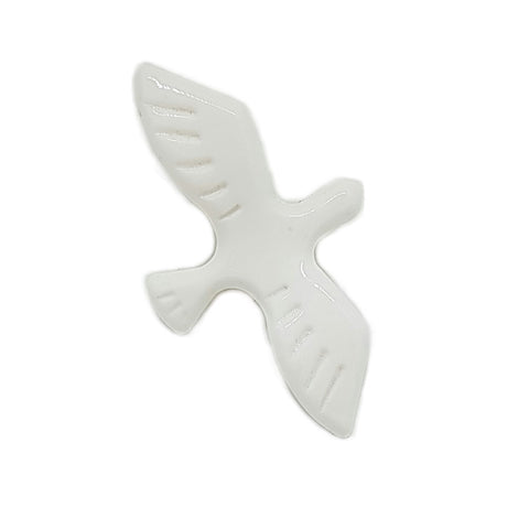 Bird in Flight Resin Brooch