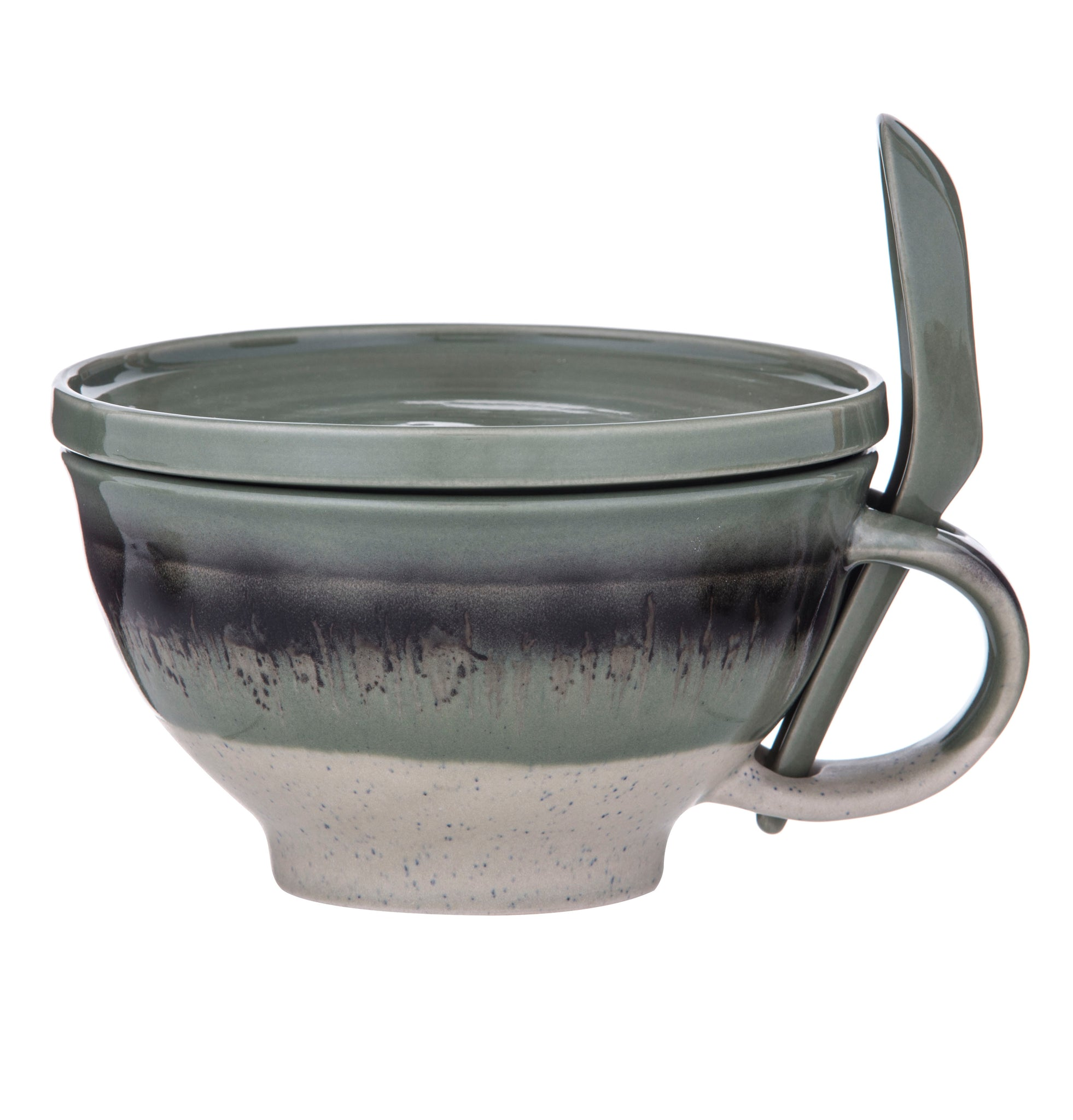 Reactive Glaze 3 Piece Soup Set