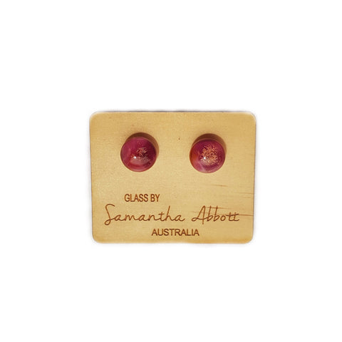 Samantha Abbott Glass Stud Earring - Pinks