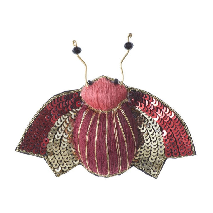Sequinned Insect Brooch