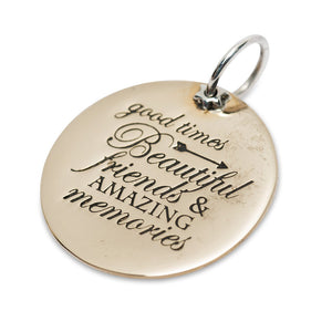 Good Friends & Memories Charm