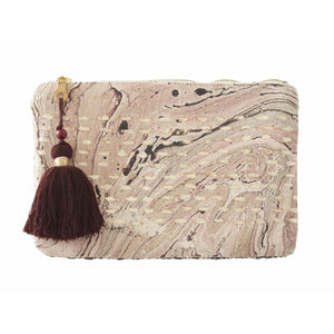 Rania Marbled Print Clutch