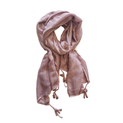 Textured Lightweight Scarf with Sequins