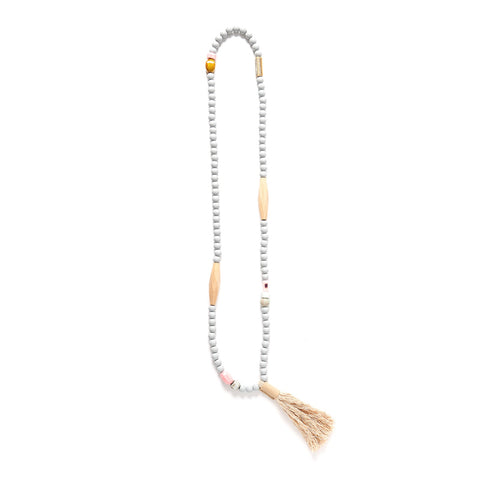 Rare Rabbit Shibori Bead & Tassel Necklace