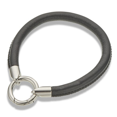 Palas Ring Trim Leather Bracelet