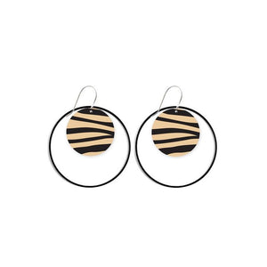 Moe Moe Design Hooped Circle Earring