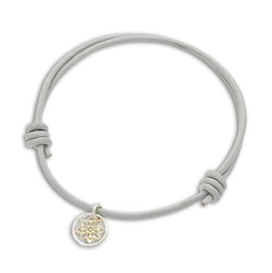 Palas Adjustable Leather Bracelet w Charm